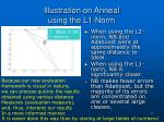 illustration on anneal using the l1 norm