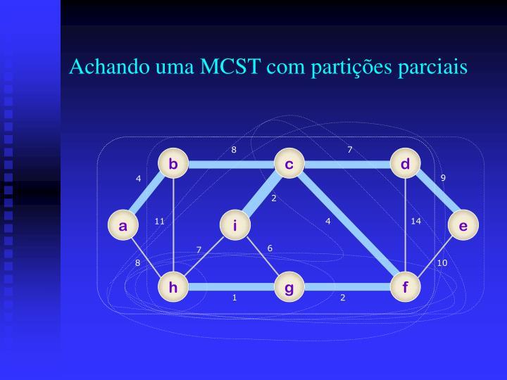 Achando uma MCST com partições parciais