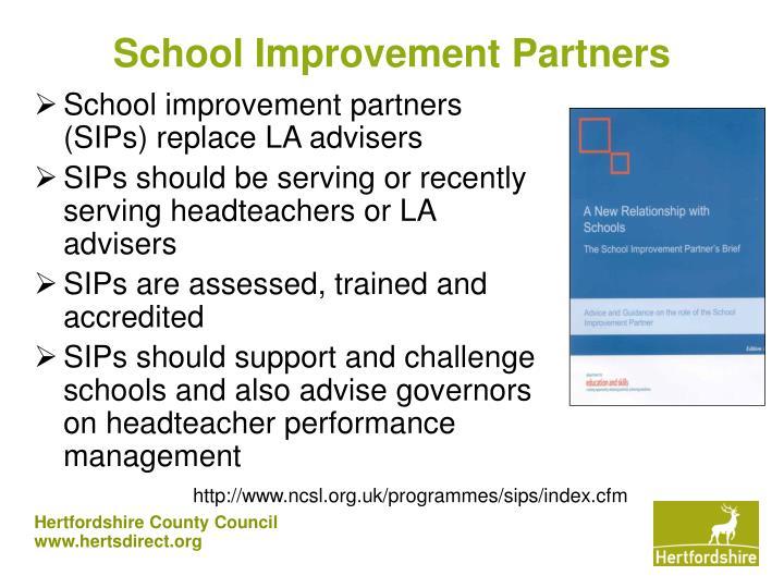 School Improvement Partners