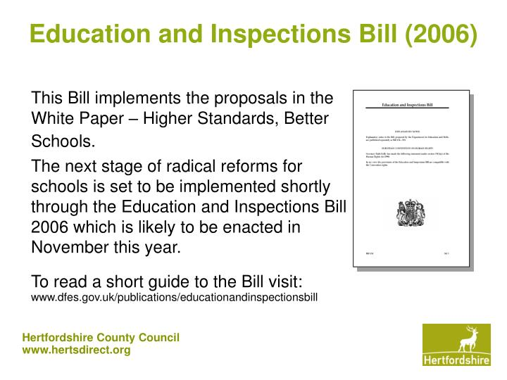 Education and Inspections Bill (2006)