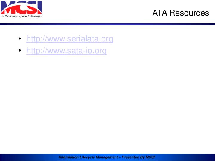 ATA Resources