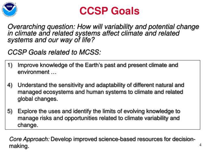 CCSP Goals