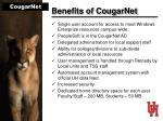 benefits of cougarnet
