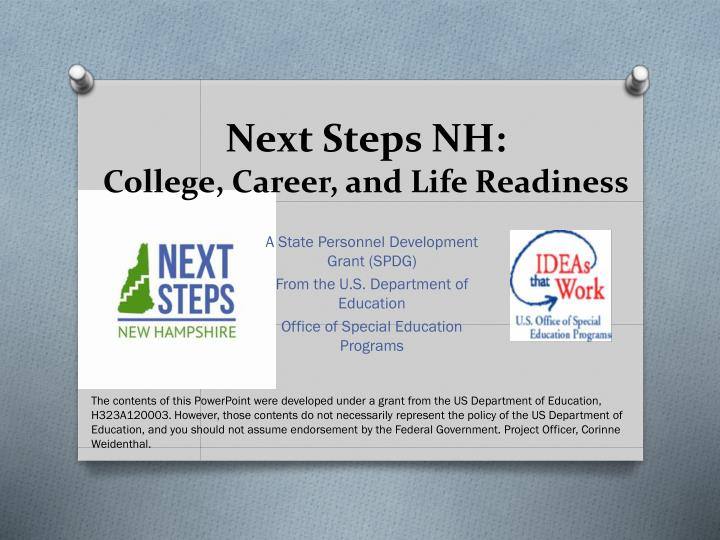 Next steps nh college career and life readiness