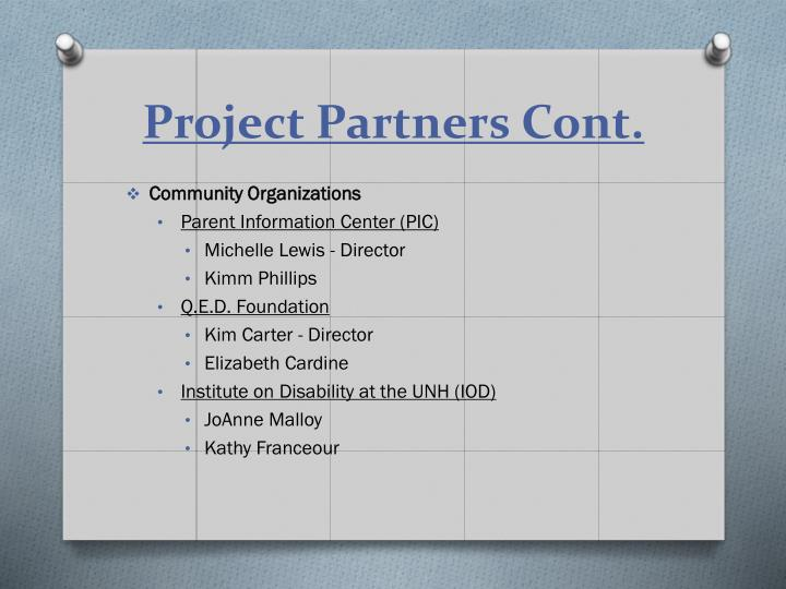 Project Partners Cont.