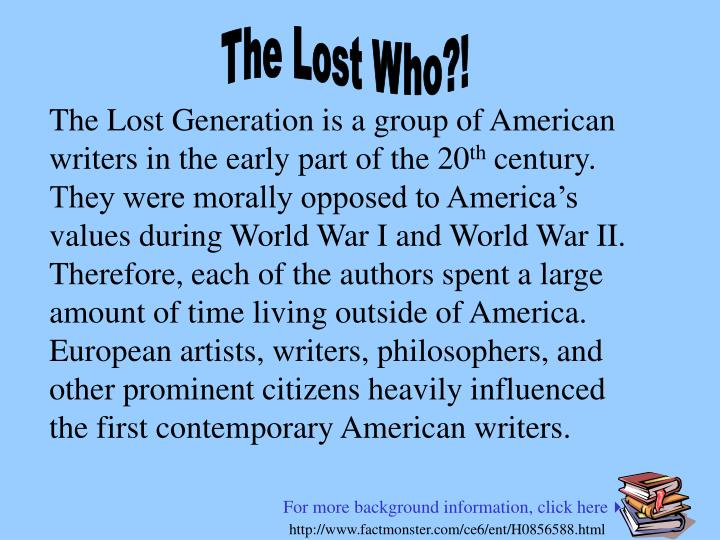The Lost Who?!