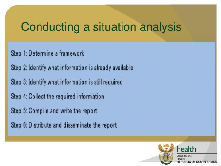 Conducting a situation analysis