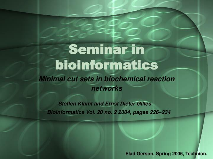 Seminar in bioinformatics