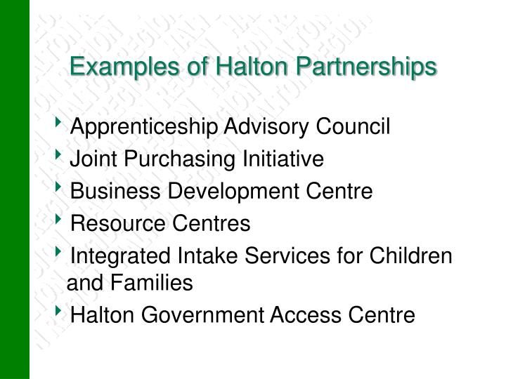 Examples of Halton Partnerships
