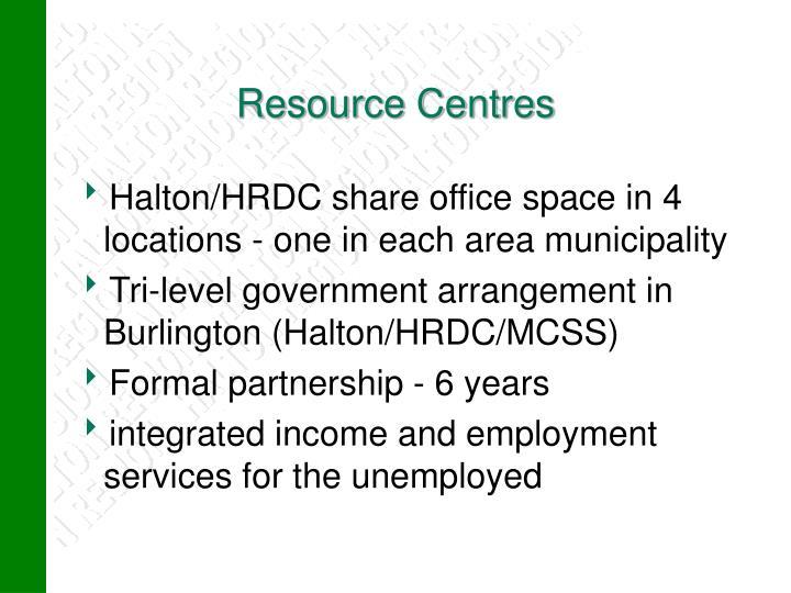 Resource Centres