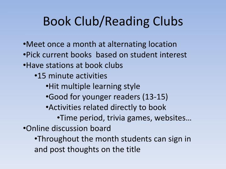 Book Club/Reading Clubs