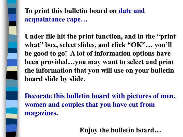 To print this bulletin board on