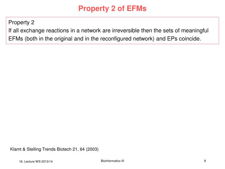 Property 2 of EFMs