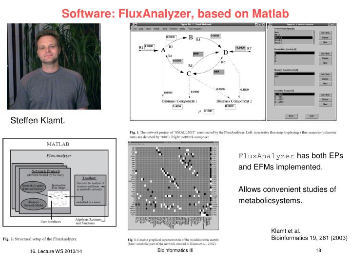 Software: FluxAnalyzer, based on Matlab