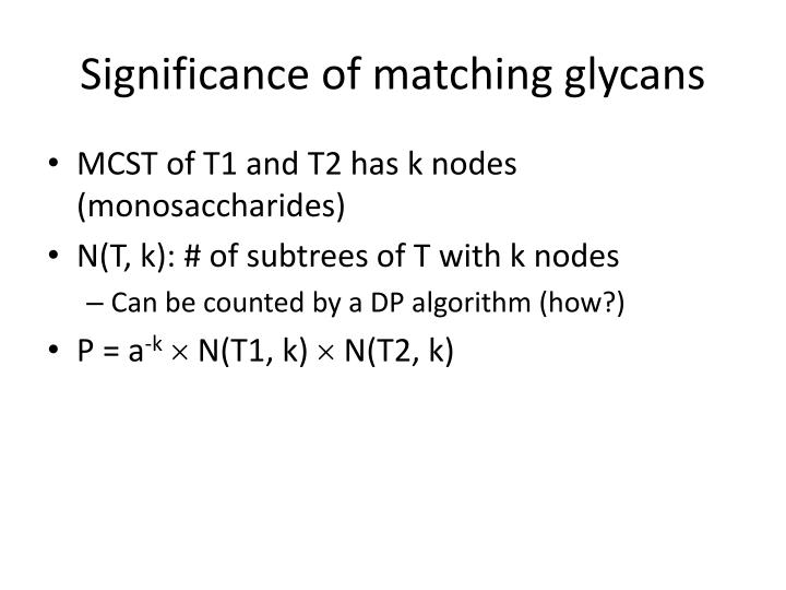 Significance of matching glycans