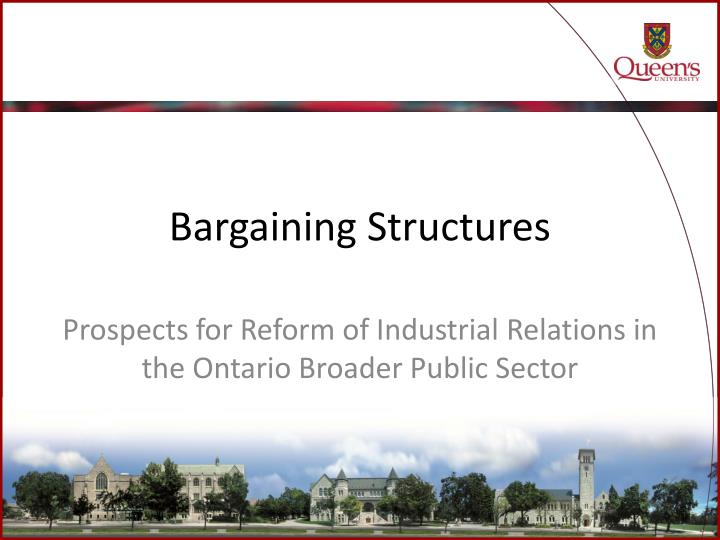 bargaining structure En the union argues that both the applicable legal principles and the evidence before the board support the conclusion that the only appropriate bargaining structure for this employer is a single bargaining unit.