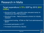 research in malta1