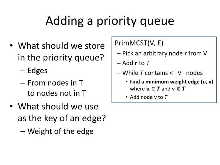 Adding a priority queue