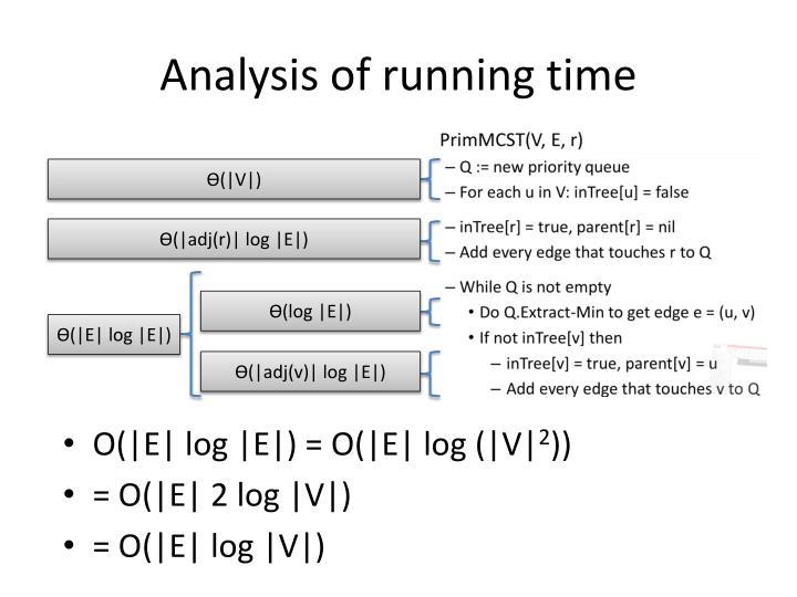 Analysis of running time