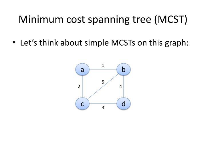 Minimum cost spanning tree mcst1