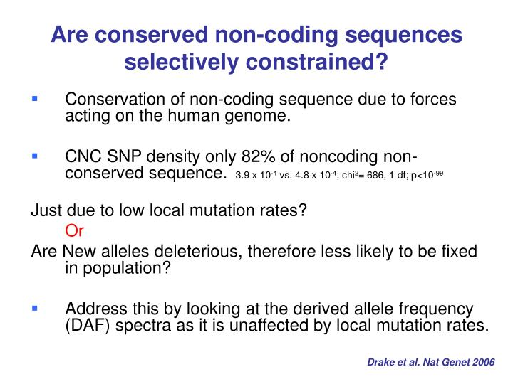 Are conserved non-coding sequences selectively constrained?