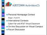 ajet2000 activities 2