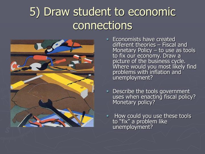 5) Draw student to economic connections