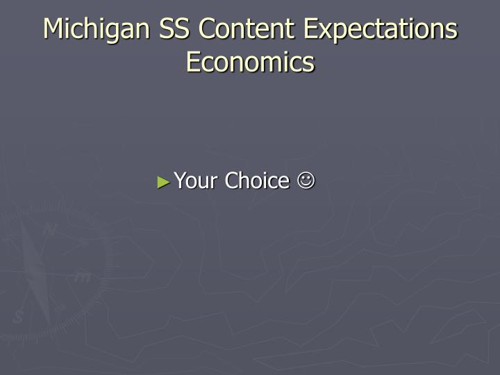 Michigan SS Content Expectations