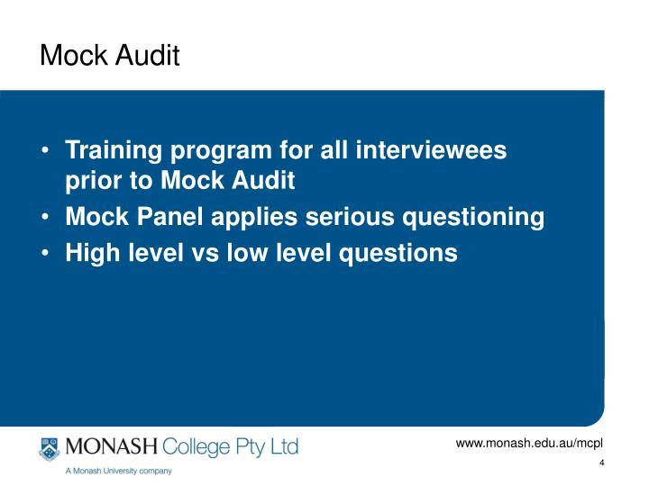 Mock Audit