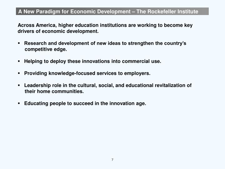 A New Paradigm for Economic Development – The Rockefeller Institute