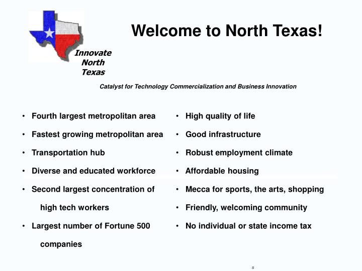 Welcome to North Texas!
