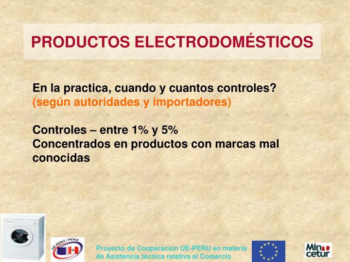 PRODUCTOS ELECTRODOMÉSTICOS