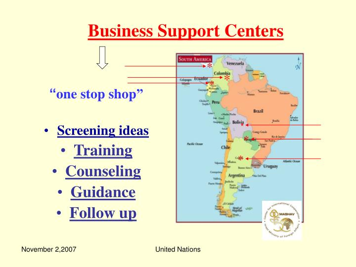 Business Support Centers