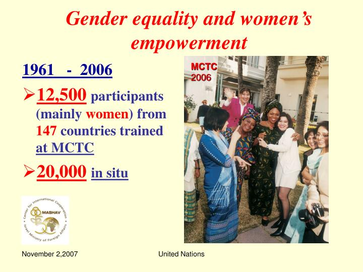 Gender equality and women s empowerment