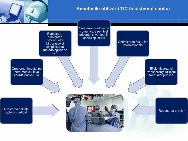 Beneficiile utilizării TIC în sistemul sanitar