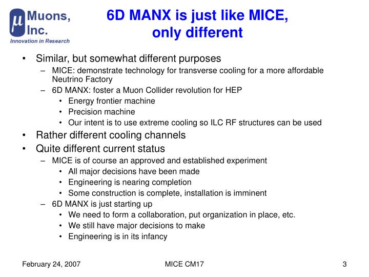 6d manx is just like mice only different