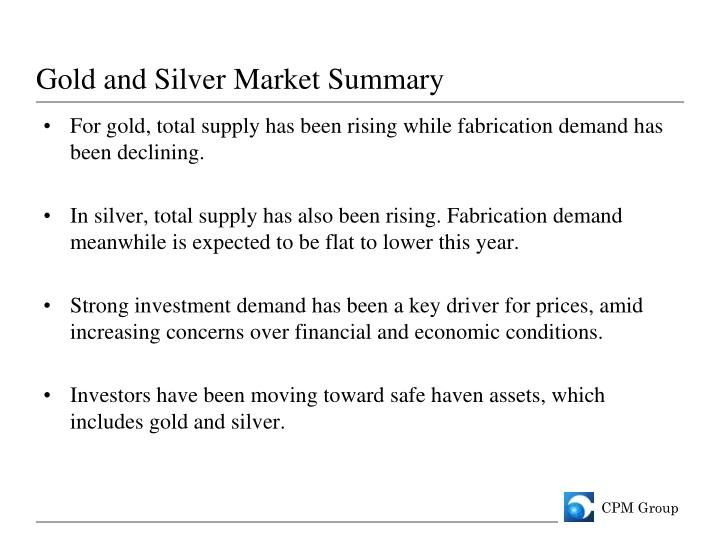 Gold and Silver Market Summary