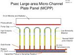 psec large area micro channel plate panel mcpp