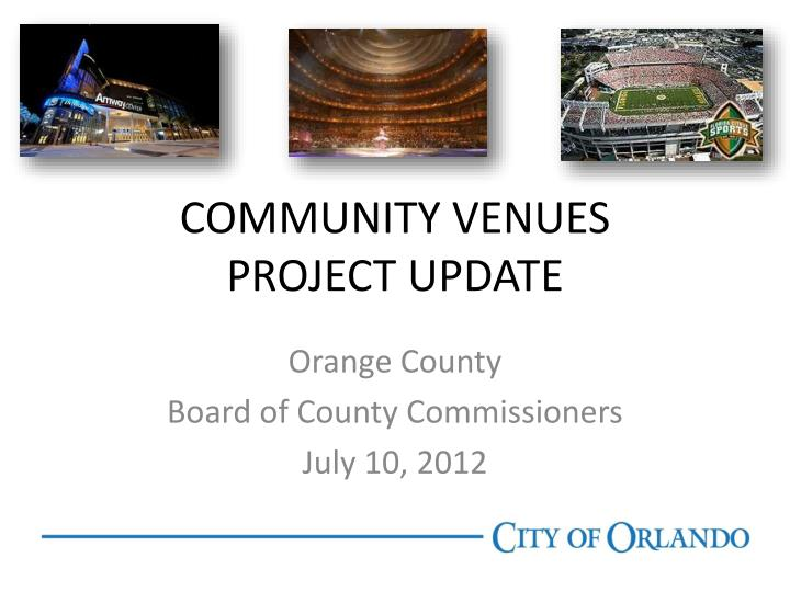 community venues project update