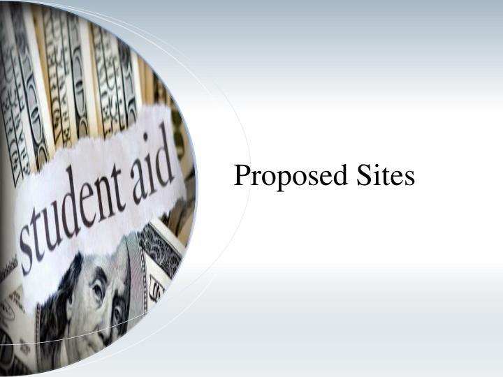 Proposed Sites
