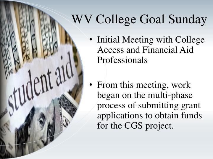 WV College Goal Sunday