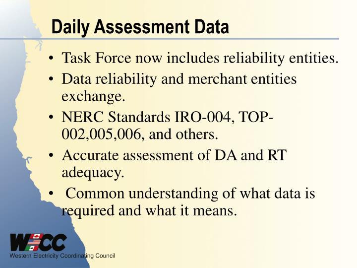 Daily Assessment Data
