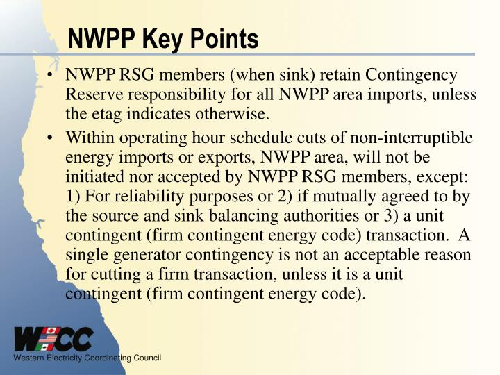 NWPP Key Points