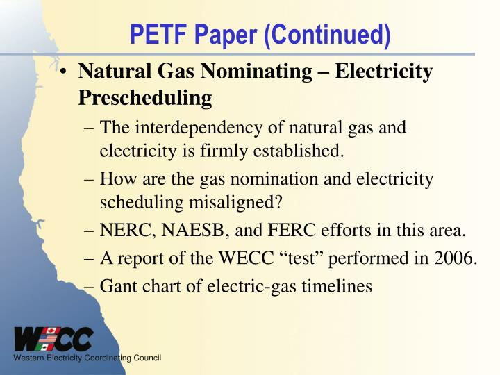 PETF Paper (Continued)
