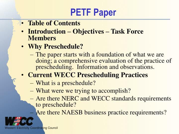 PETF Paper
