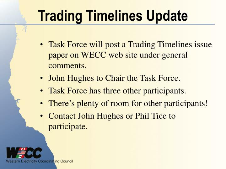 Trading Timelines Update