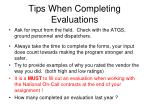 tips when completing evaluations