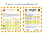 what s new in aviation frequency management