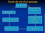 cycle de vie d un groupe