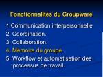 fonctionnalit s du groupware4